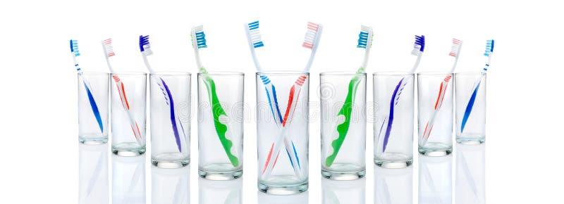 szkieł toothbrushes obrazy royalty free