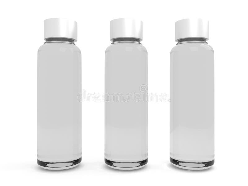 Szklana butelka, buteleczki/wyśmiewamy up fotografia royalty free