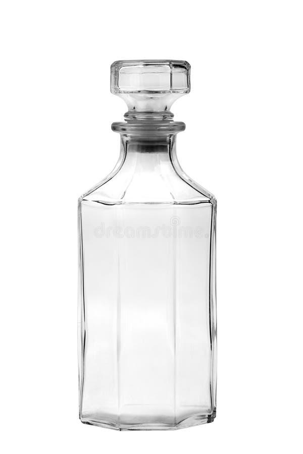 Szklana butelka, dekantator/ zdjęcie royalty free