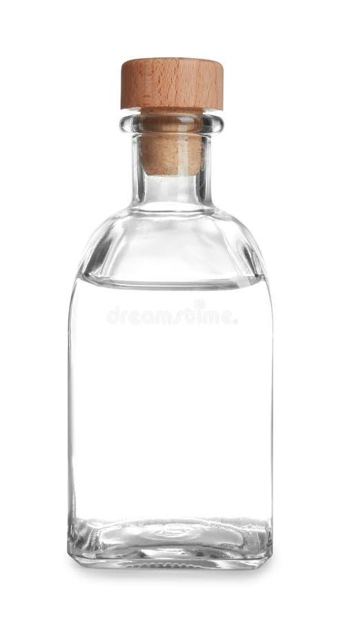 Szklana butelka z octem obrazy royalty free