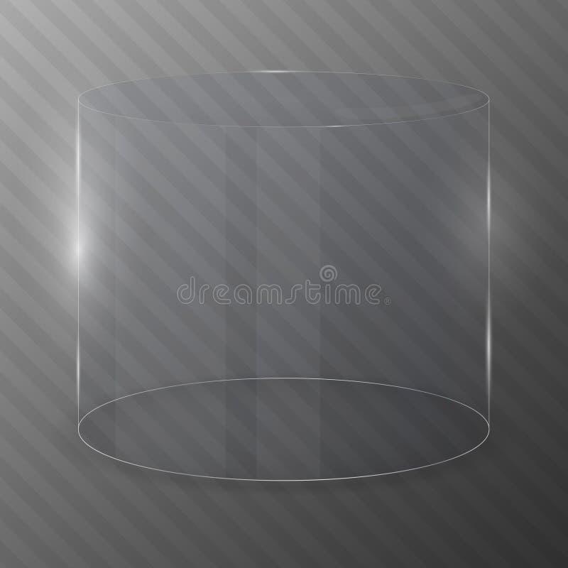 Szklana butla pojęcia projekta restauraci szablon royalty ilustracja
