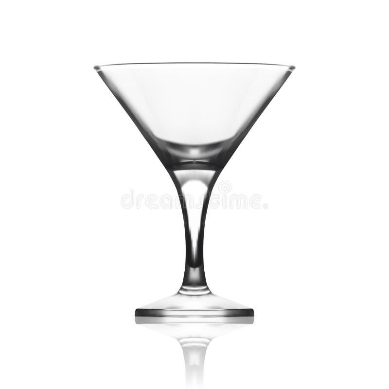 Szklana czara Dla Martini wermutu koktajli/lów obraz stock