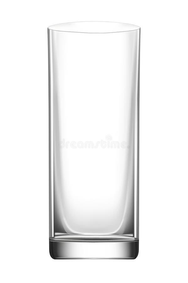 Szklana czara dla napojów i koktajli/lów, mockup dla projekta ilustracja wektor