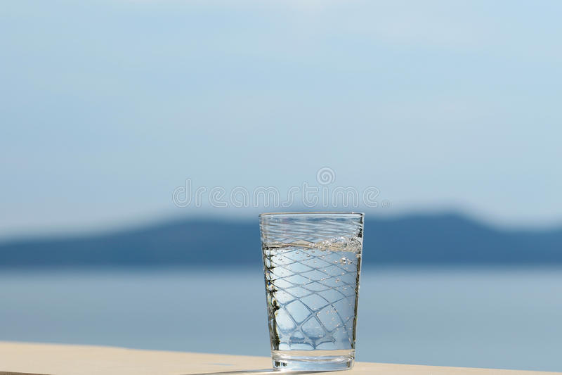 szklana czystej wody obraz stock