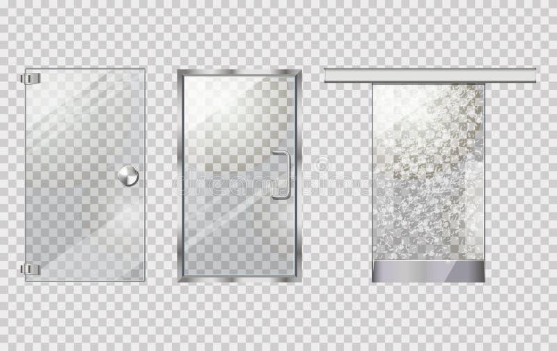 Szklana Drzwiowa kolekcja na Przejrzystym tle ilustracji