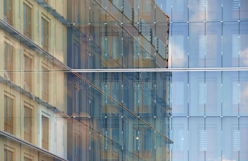Szklana fasada zdjęcie royalty free