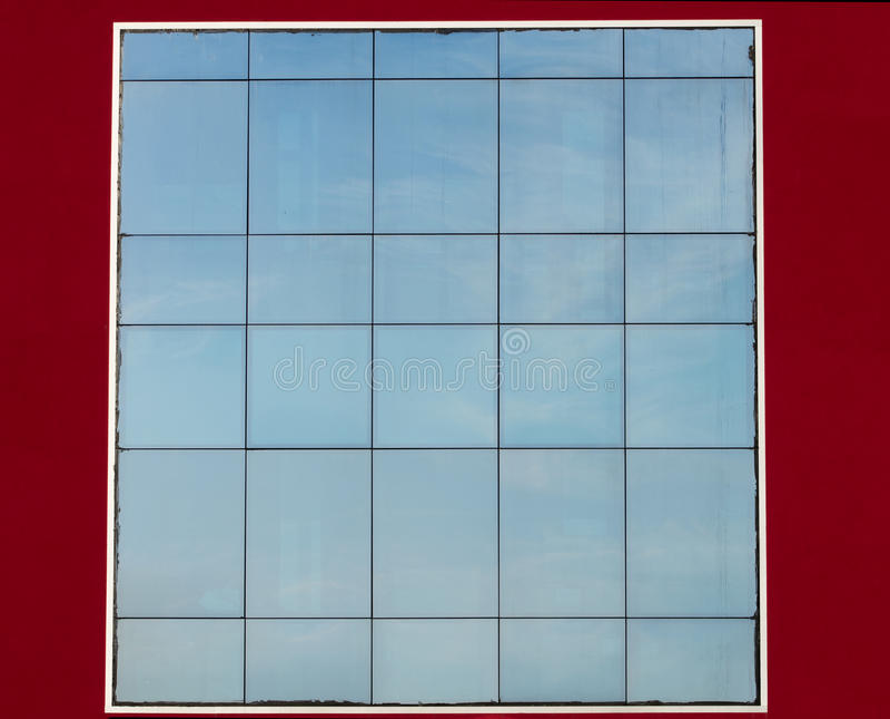 Szklana fasada obrazy stock