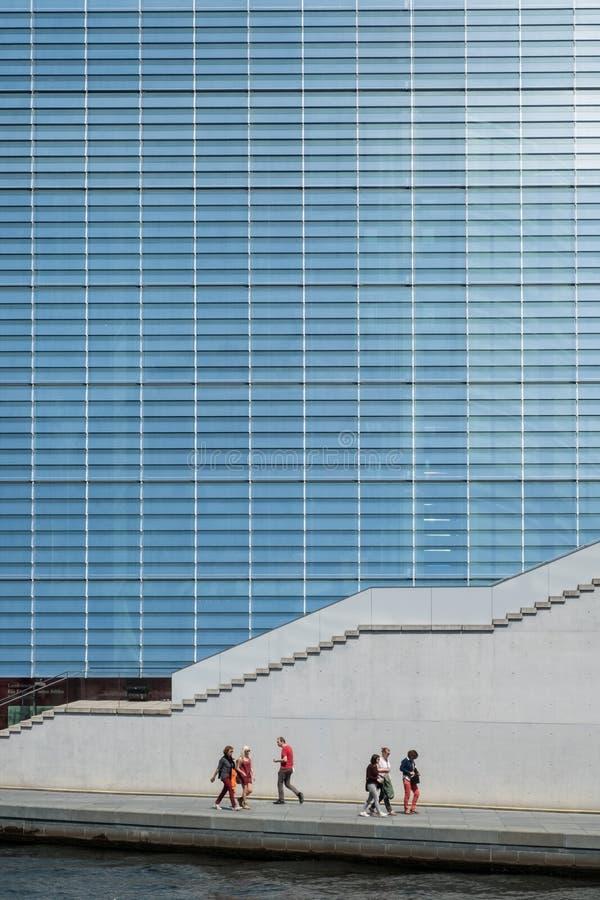 Szklana fasada Maria Elisabeth Lueders dom w Berlin zdjęcia royalty free