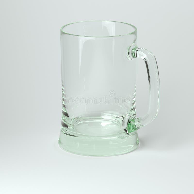 Szklana kolekcja - piwo Jeden. Na Białym tle royalty ilustracja