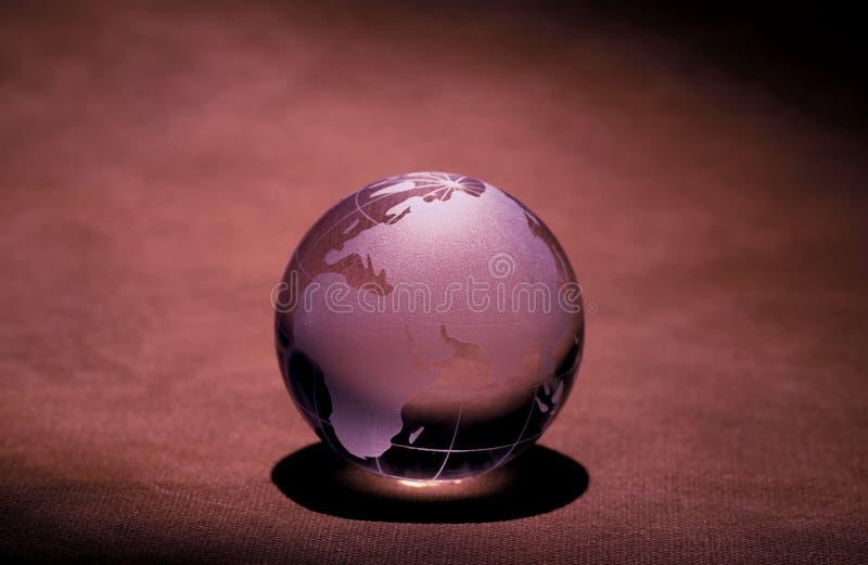 szklana kula ziemska fotografia stock
