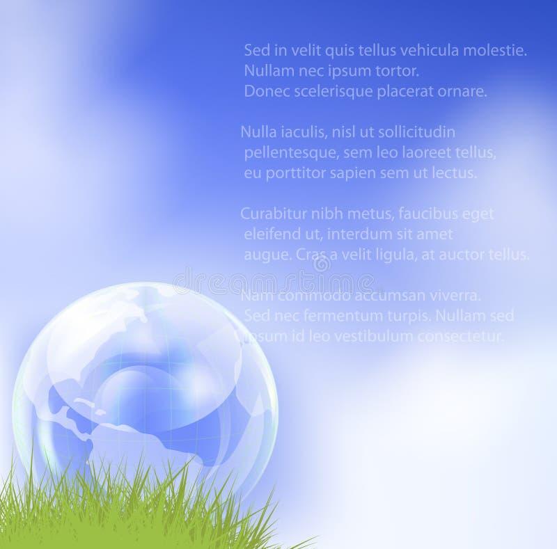 Download Szklana Kula Ziemska W świeżej Zielonej Trawie. Ilustracja Wektor - Ilustracja złożonej z środowisko, komunikacja: 28970087