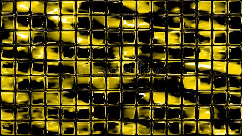 Szklana mozaika obciosuje żółtego tło ilustracji
