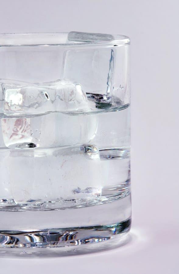 szklana mrożonej wody fotografia stock