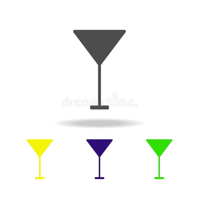 szklana multicolor ikona Element sieci ikony Znaki i symbol ikona dla stron internetowych, sieć projekt, mobilny app na białym tl ilustracji
