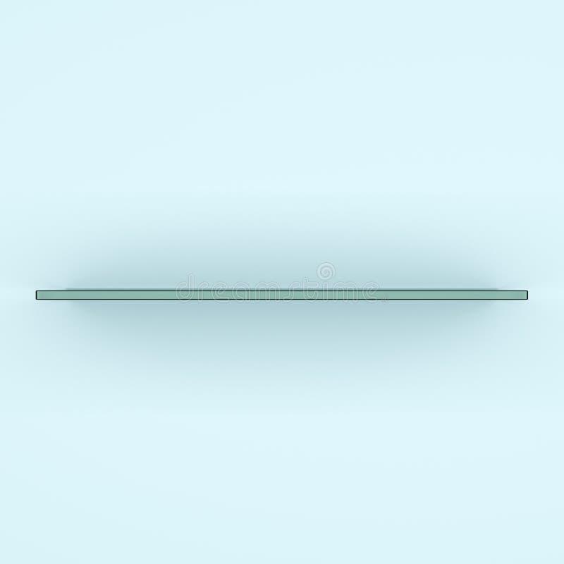 Szklana półka, 3d rendering ilustracja wektor