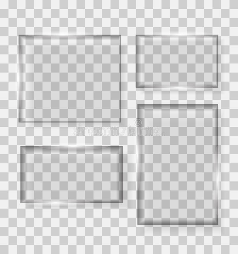 Szklana przezroczystości ramy wektoru ilustracja royalty ilustracja