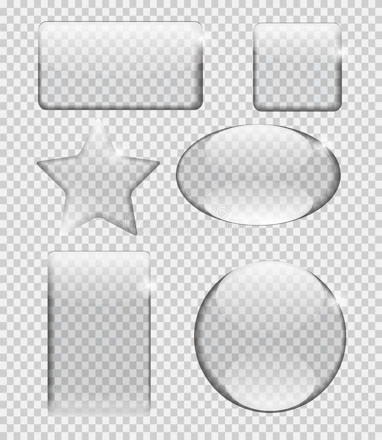 Szklana przezroczystości ramy wektoru ilustracja ilustracja wektor