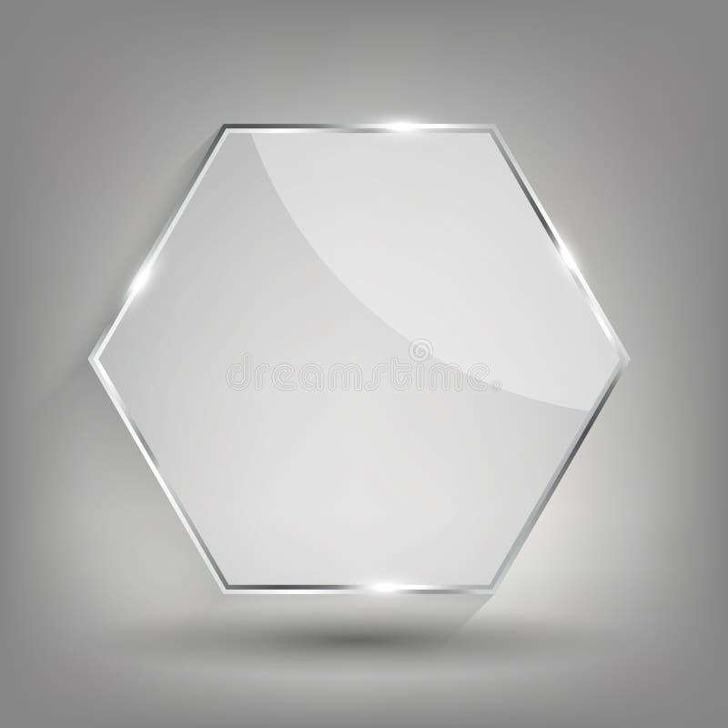 Szklana przezroczysto?ci ramy wektoru ilustracja ilustracji
