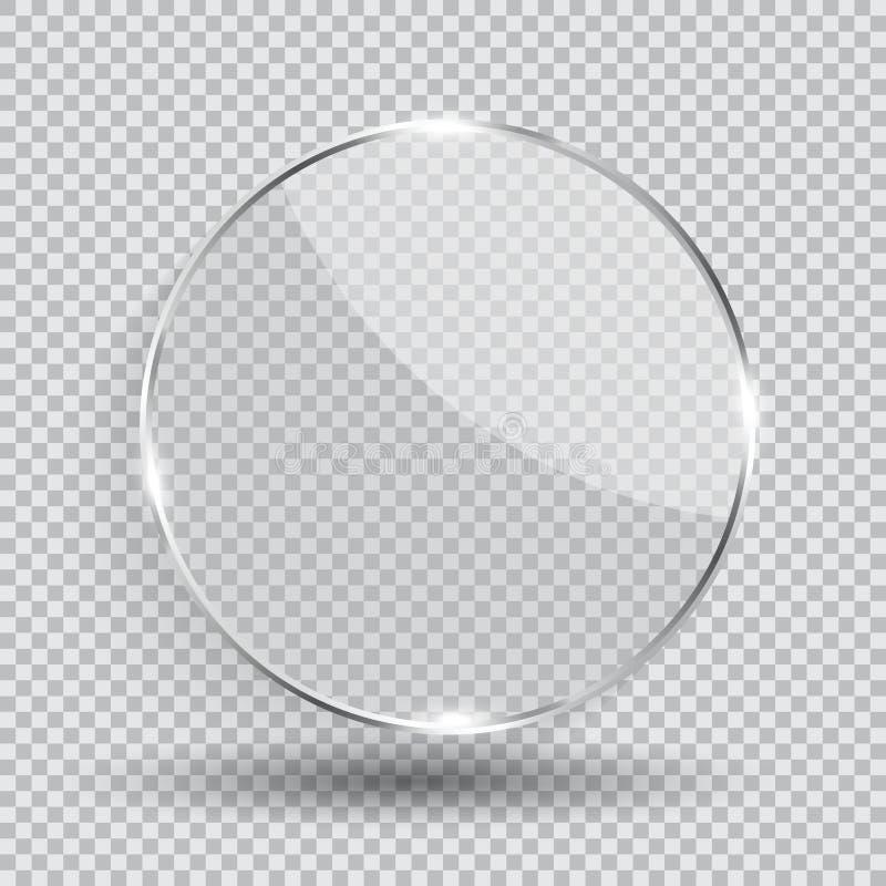 Szklana przezroczysto?ci ramy wektoru ilustracja ilustracja wektor