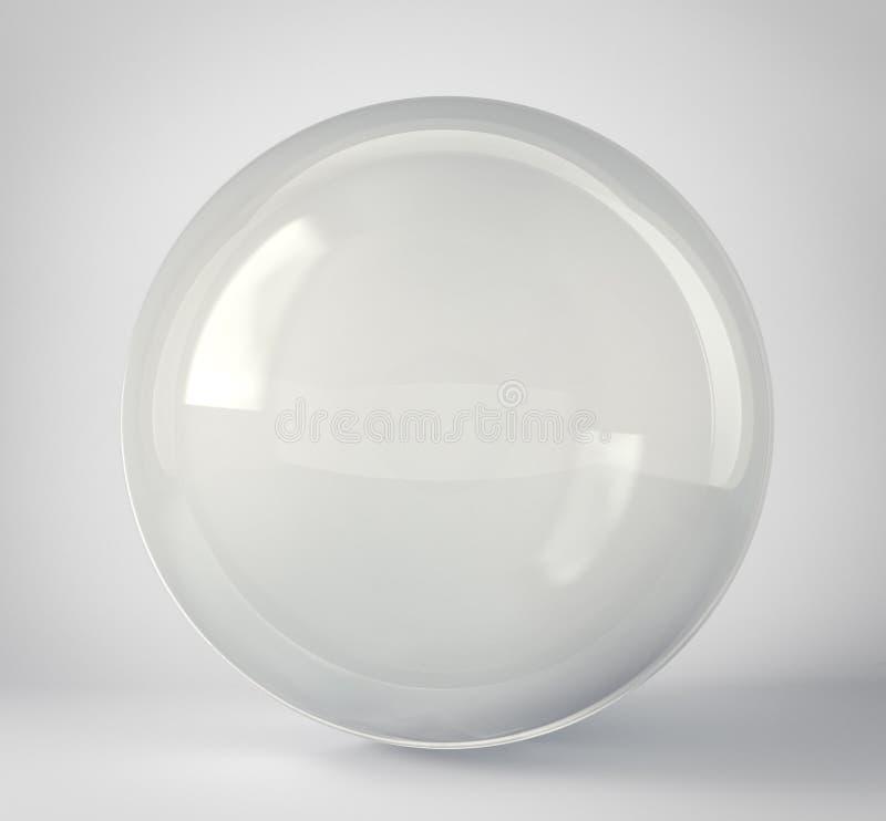 szklana sfera odizolowywająca na popielatym ilustracji