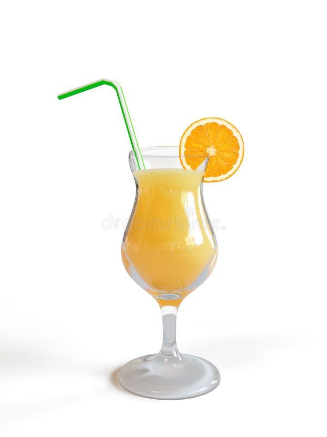 szklana sok pomarańcze fotografia royalty free
