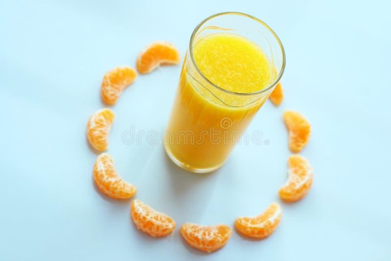 szklana sok pomarańczowy obraz royalty free
