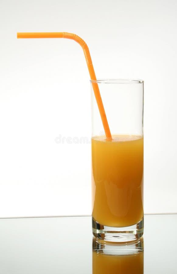 szklana sok pomarańczowy zdjęcia royalty free