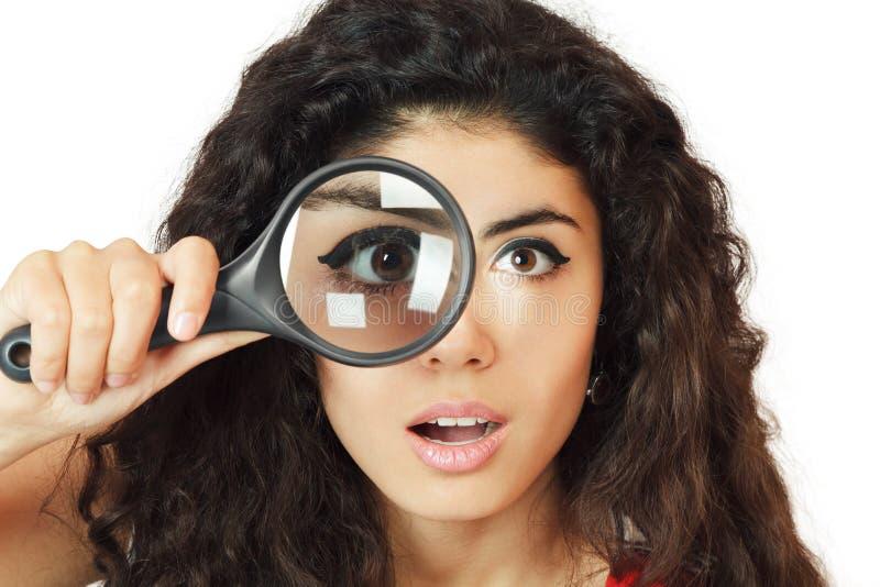 szklana target1404_0_ kobieta zdjęcia stock