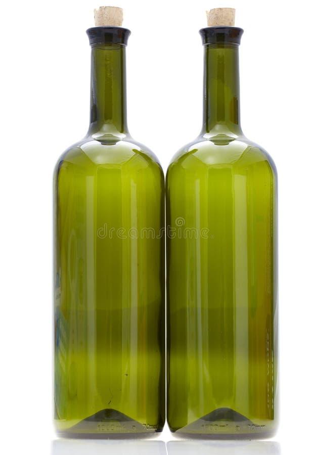 Szklana wino butelka fotografia royalty free