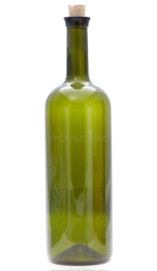 Szklana wino butelka zdjęcia stock