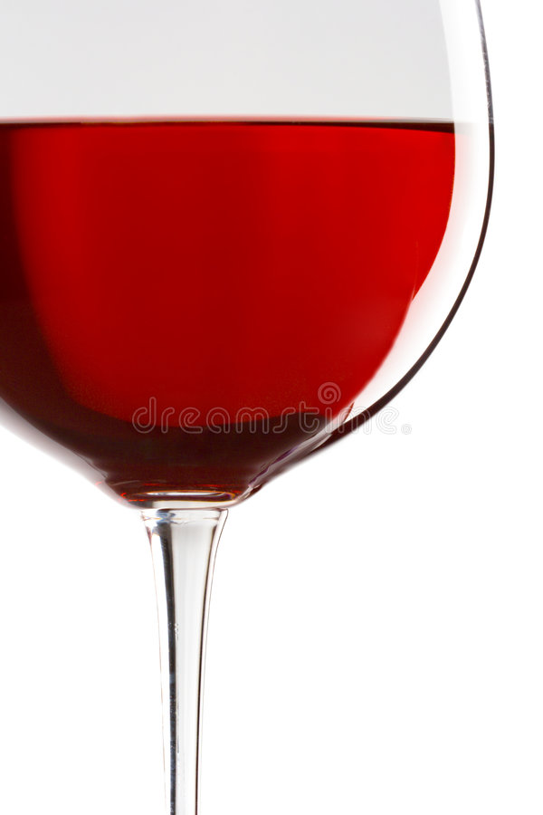 szklana zbliżony do win czerwonych obraz stock
