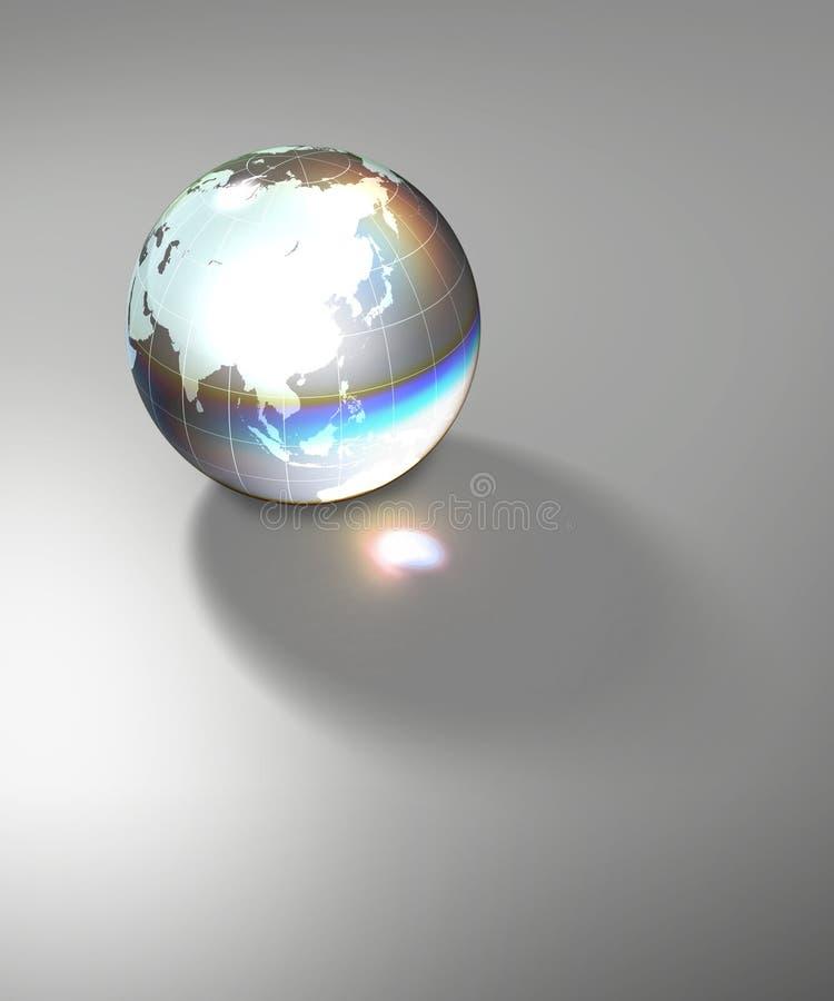 szklana ziemi globe planety przejrzysta royalty ilustracja