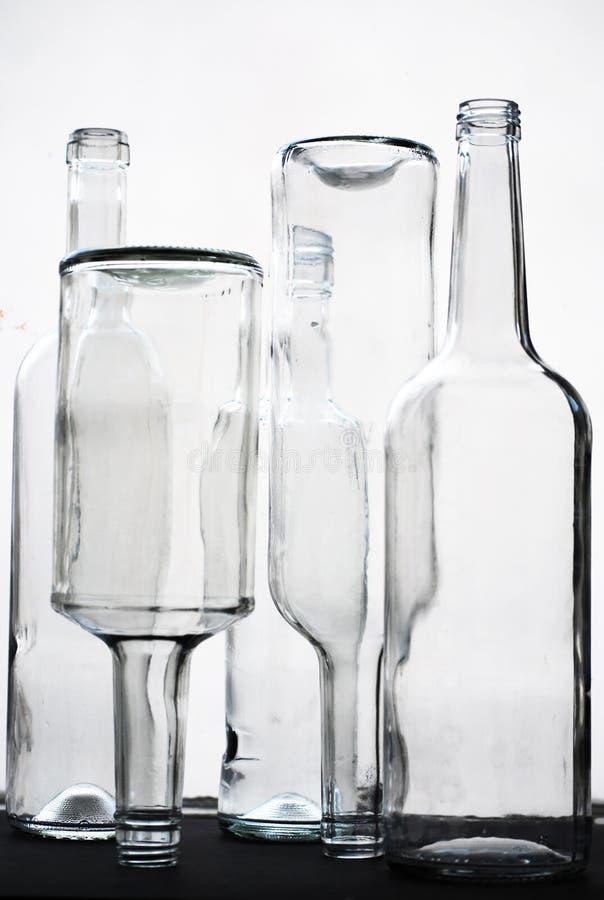 Szklane butelki fotografia royalty free