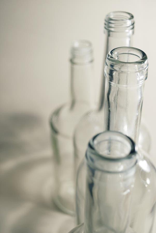 Szklane butelki obrazy royalty free
