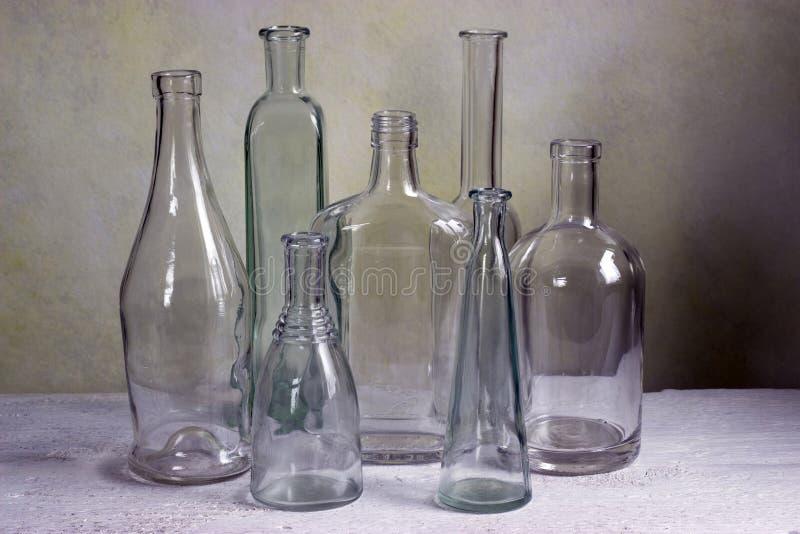Szklane butelki zdjęcia stock