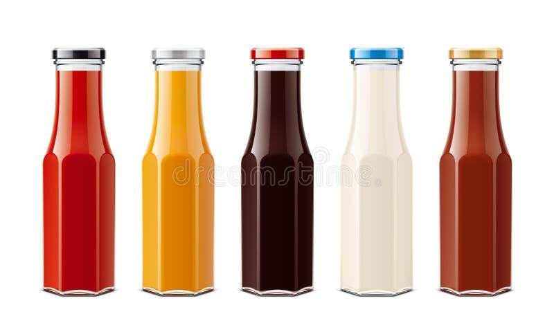 Szklane butelki dla kumberlandów royalty ilustracja