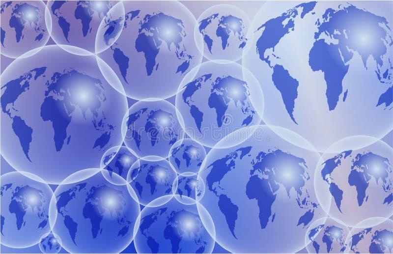 szklane globusy royalty ilustracja