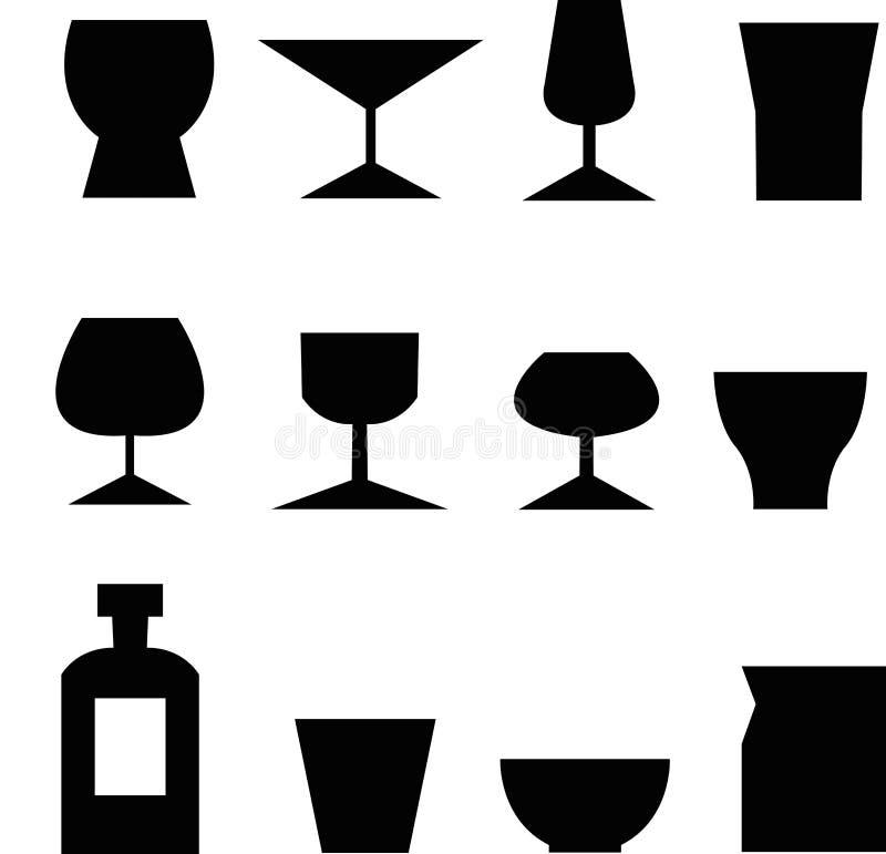 szklane ikony ilustracji