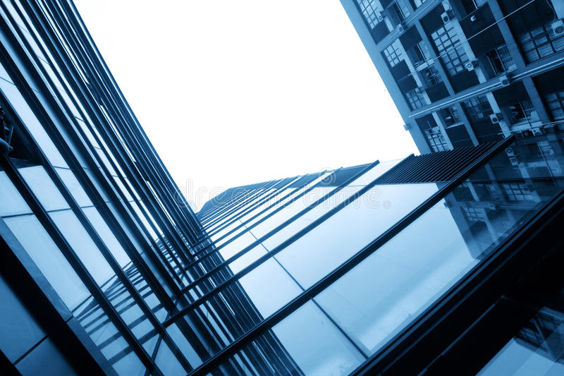 szklane nowożytne sylwetki obraz stock
