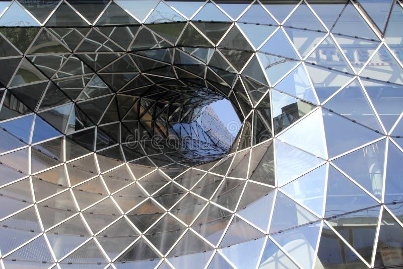szklane odłamki współczesnej architektury dach zdjęcie stock