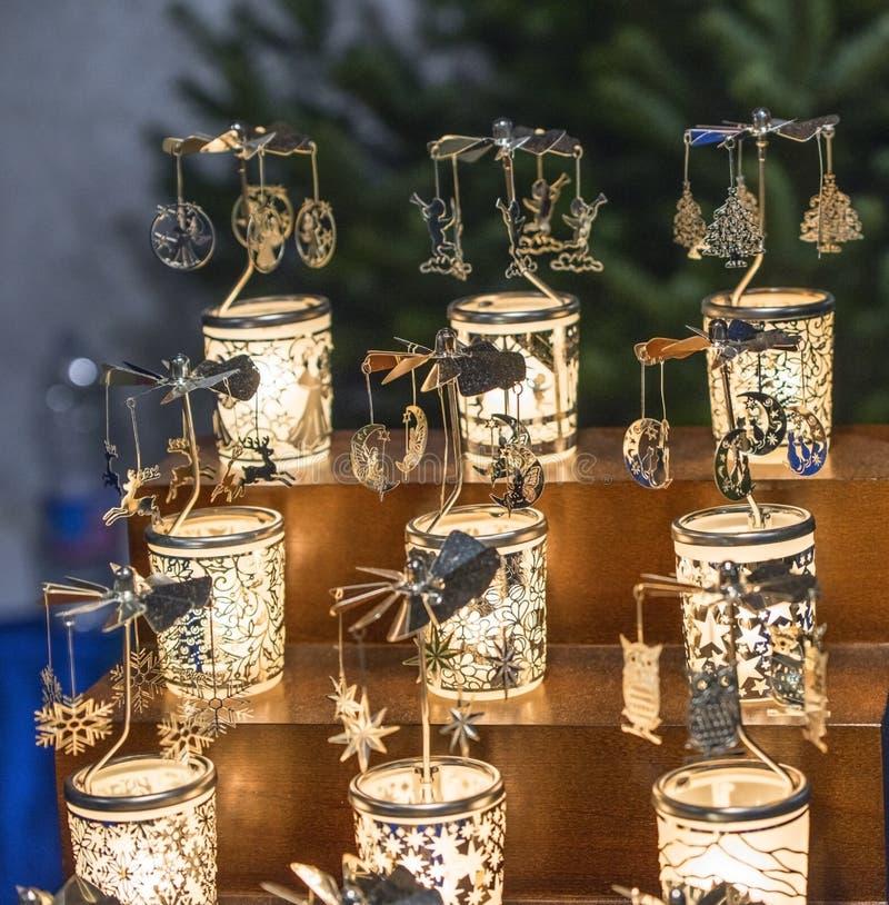 Szklane pamiątki na sprzedaży zdjęcie royalty free