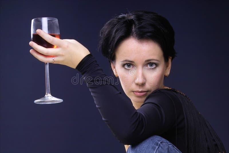 szklane wygląda sexy wino zdjęcie stock