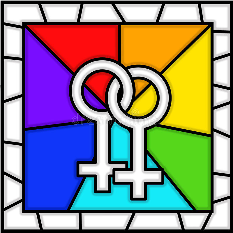 szklanego lesbian lgbt pobrudzony symbol ilustracja wektor