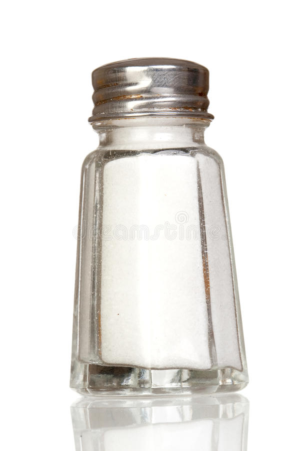 szklanego odbicia solankowy potrząsacz obraz stock