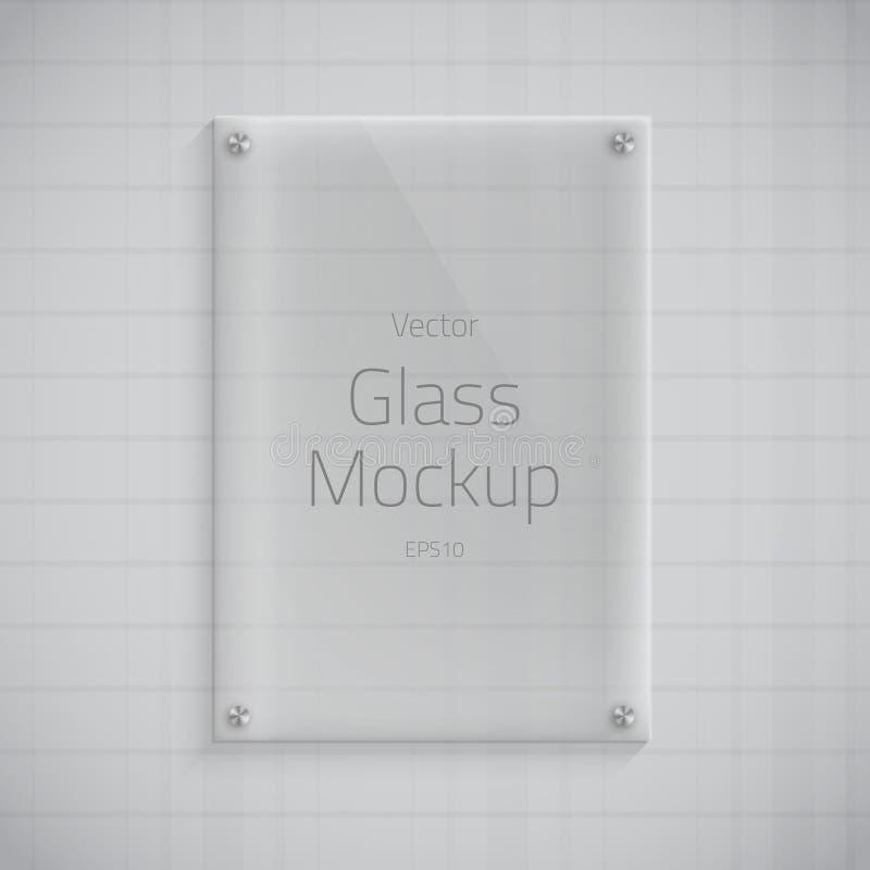 Szklanego talerza Mockup Wektorowy tło royalty ilustracja