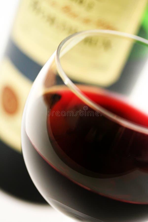 szklanej butelki francuska czerwony zdjęcie stock
