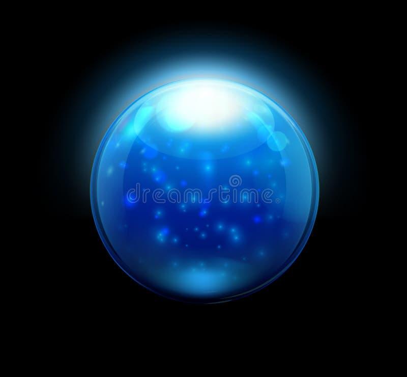 Szklani marmury guzik sfera/ ilustracji