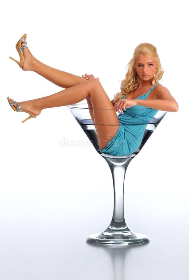 szklani Martini kobiety potomstwa fotografia royalty free