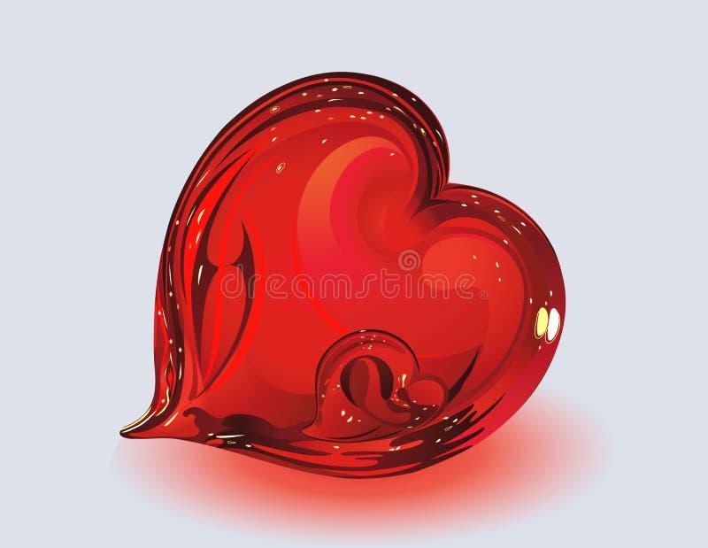 szklani serca dwa ilustracji
