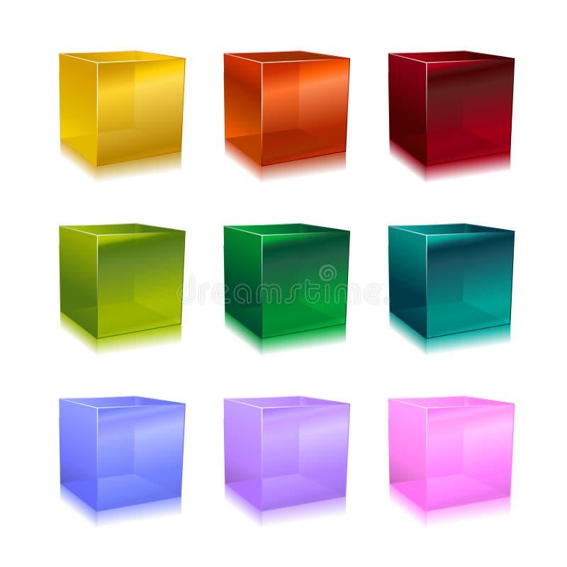 Szklani sześciany ilustracji